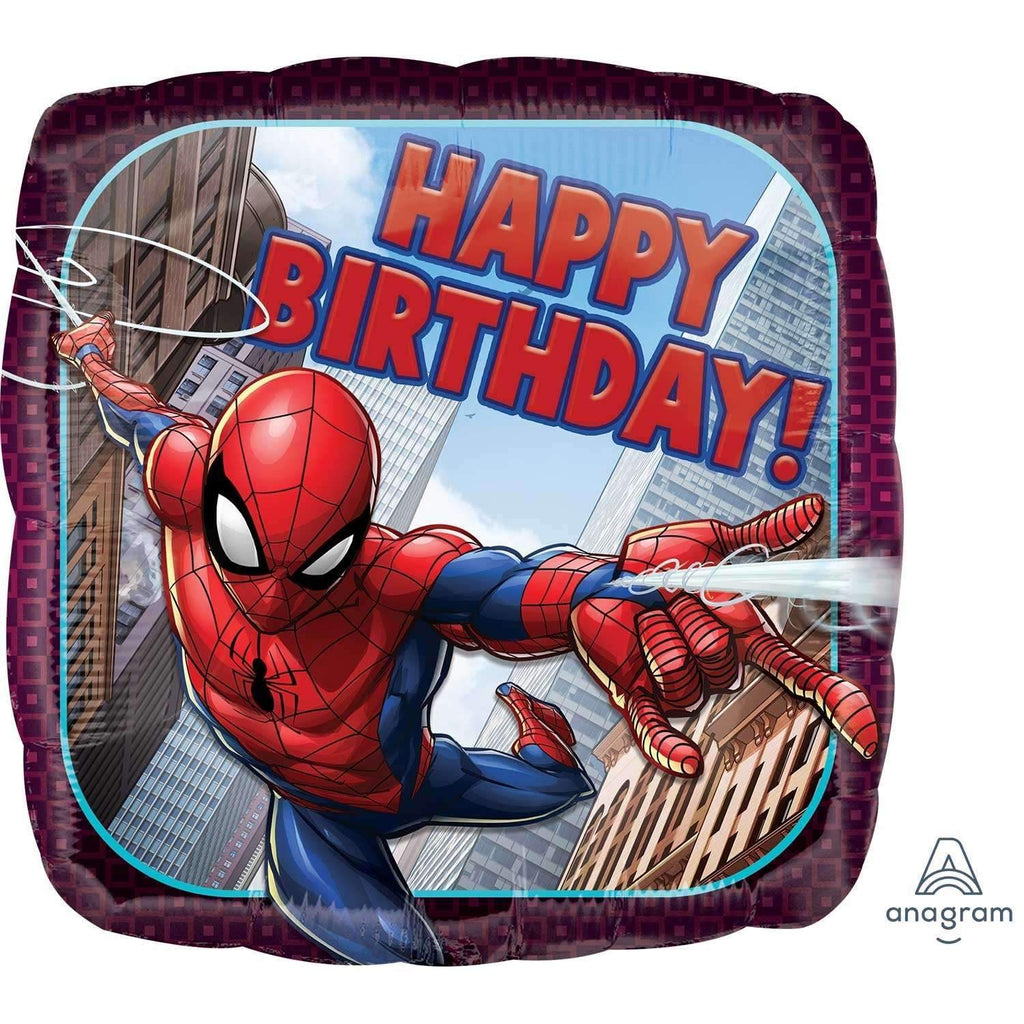 FOIL BALLOON HAPPY BIRTHDAY SPIDERMAN 43cm 34664