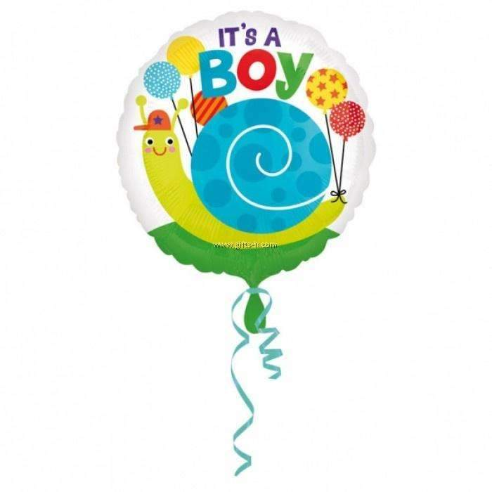 FOIL BALLOON IT'S A BOY SNAIL 43cm 33646