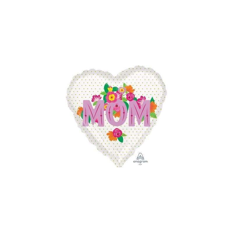 FOIL BALLOON MOM HEART 43cm 37251