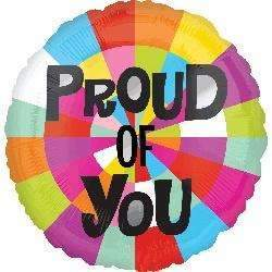 FOIL BALLOON PROUD OF YOU 43cm 30664