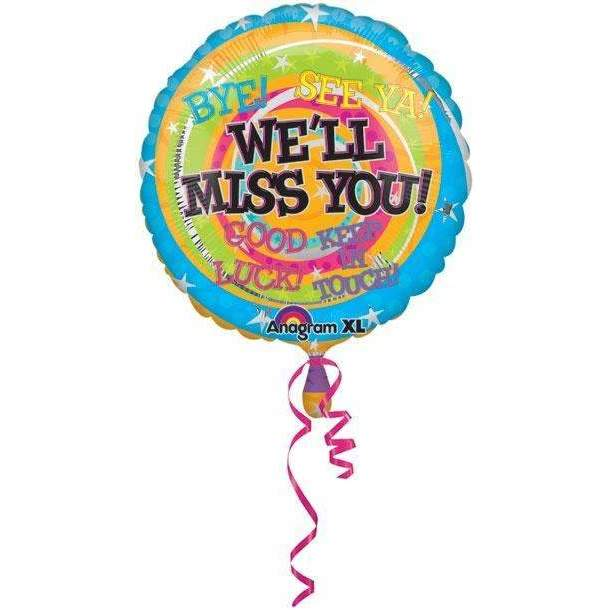 FOIL BALLOON WE'LL MISS YOU 43cm 17964