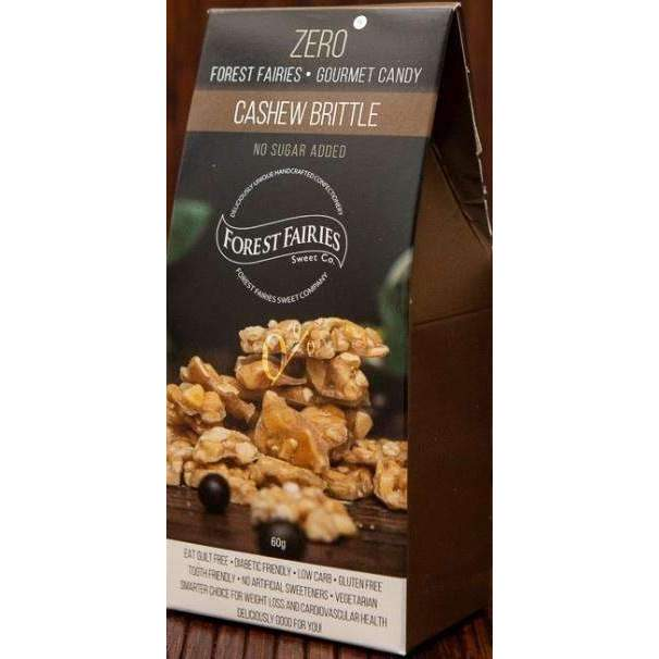 FOREST FAIRIES SUGAR FREE CASHEW BRITTLE 60g