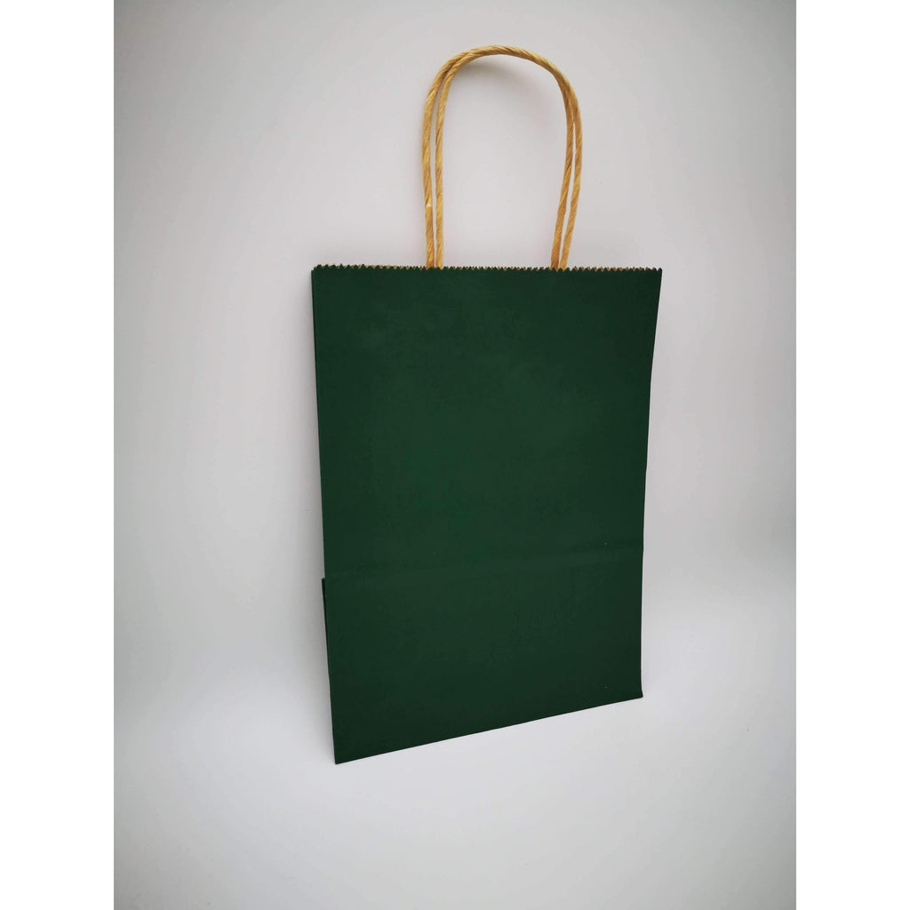 GIFT BAG SMALL - 004 - PLAIN DARK GREEN
