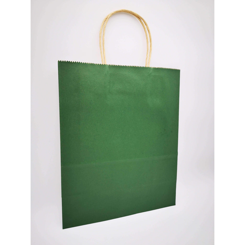 GIFT BAG MEDIUM - 020 - PLAIN DARK GREEN