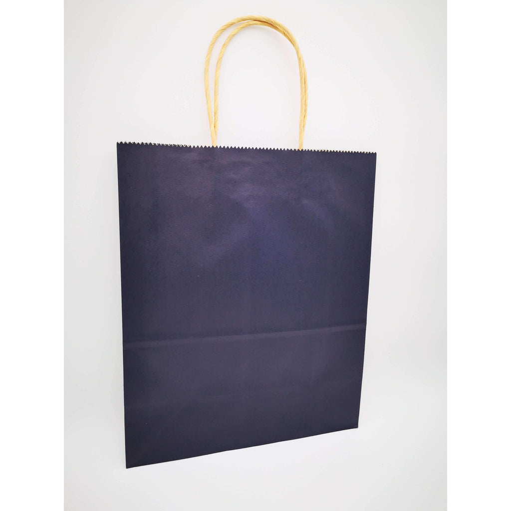 GIFT BAG MEDIUM - 021 - PLAIN NAVY BLUE