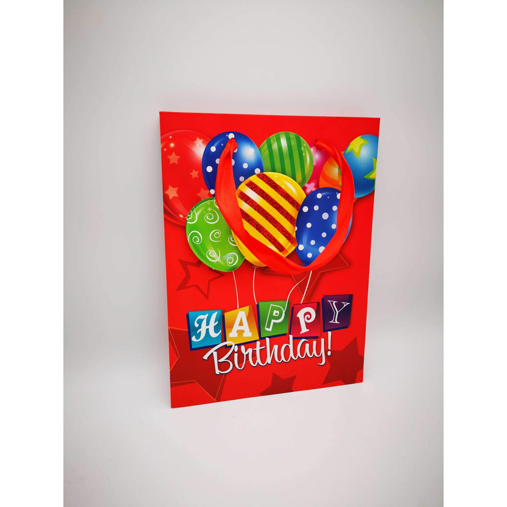 GIFT BAG - 065 - 3D HAPPY BIRTHDAY BALLOONS