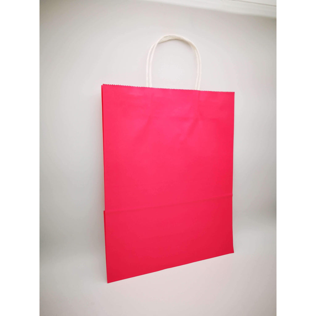 GIFT BAG LARGE - 085 - PLAIN CERISE PINK