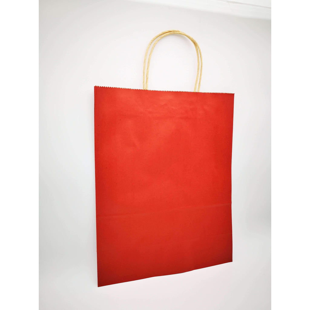 GIFT BAG LARGE  - 088 - PLAIN MAROON