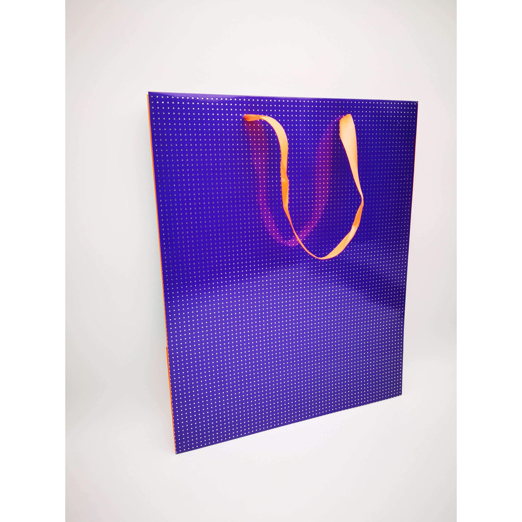 GIFT BAG - 105 - DOTTED PURPLE W/ORANGE