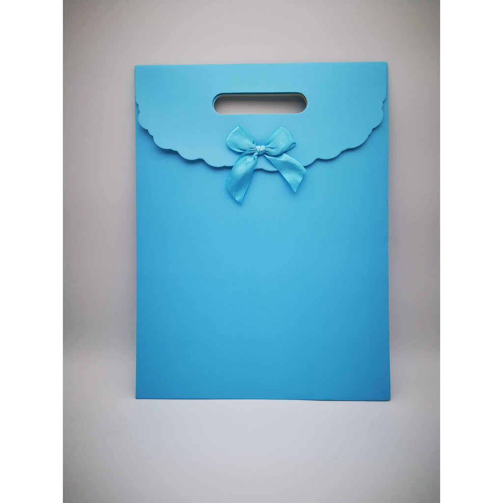 GIFT BAG - 109 - BABY BLUE ENVELOPE W/BOW