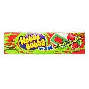 HUBBA BUBBA STRAWBERRY WATERMELON GUM