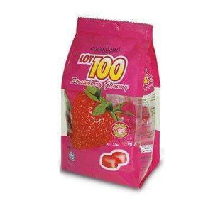 LOT 100 STRAWBERRY GUMMIES