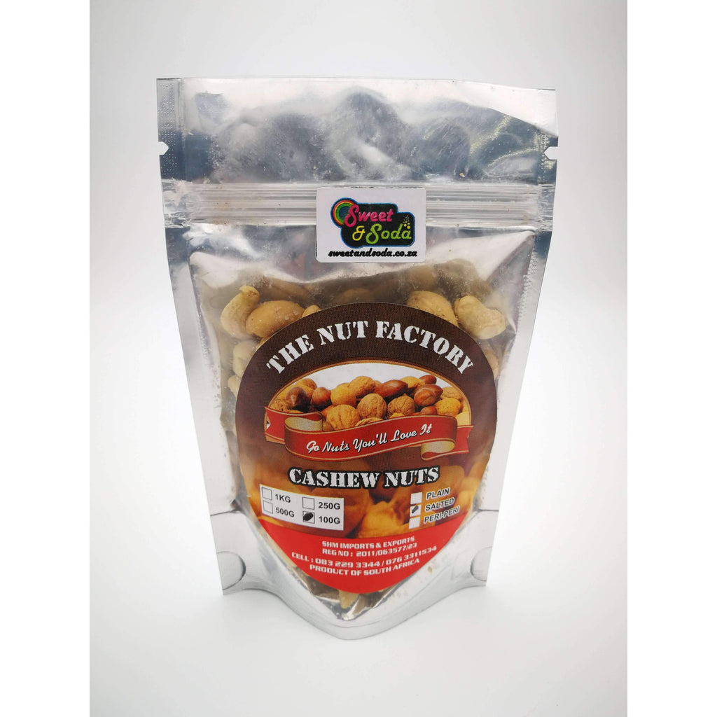 NUT FACTORY CASHEWS SALTED 100g