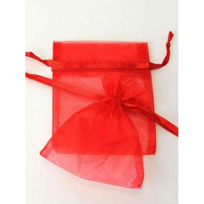 ORGANZA BAGS 14x18 x 10pcs RED