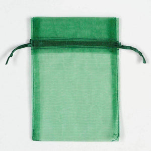ORGANZA BAGS 7x9 x 10pcs BOTTLE GREEN