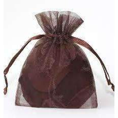 ORGANZA BAGS 7x9 x 10pcs BROWN