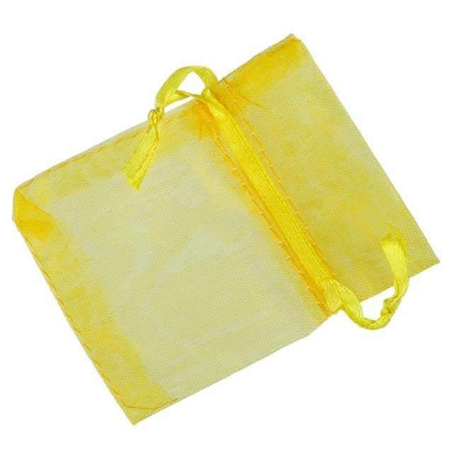 ORGANZA BAGS 7x9 x 10pcs YELLOW