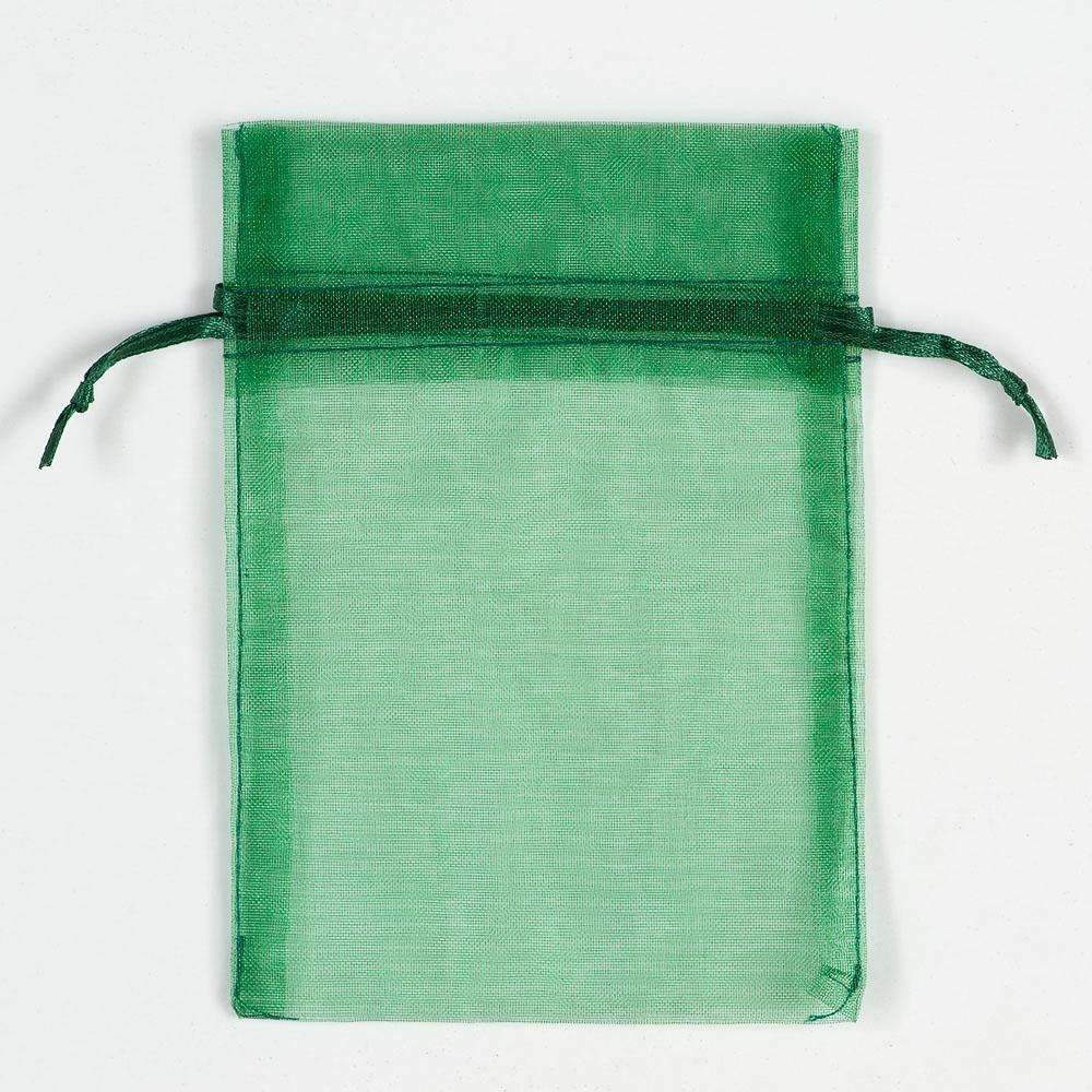 ORGANZA BAGS 9x12 x 10pcs BOTTLE GREEN