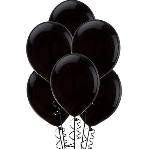 "PARTY BALLOONS 12"" 10 PACK METALLIC BLACK"