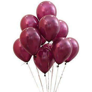 "PARTY BALLOONS 12"" 10 PACK DARK RED"