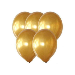 "PARTY BALLOONS 12"" 10 PACK METALLIC GOLD"