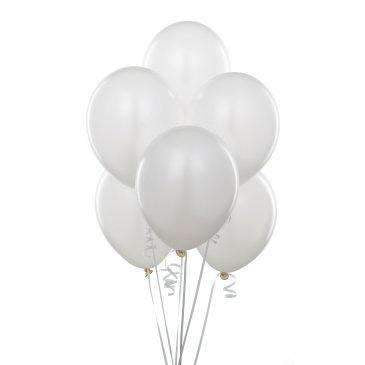 "PARTY BALLOONS 12"" 10 PACK SATIN  WHITE"