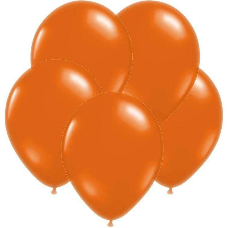 PARTY BALLOONS BURNT ORANGE 10 PACK