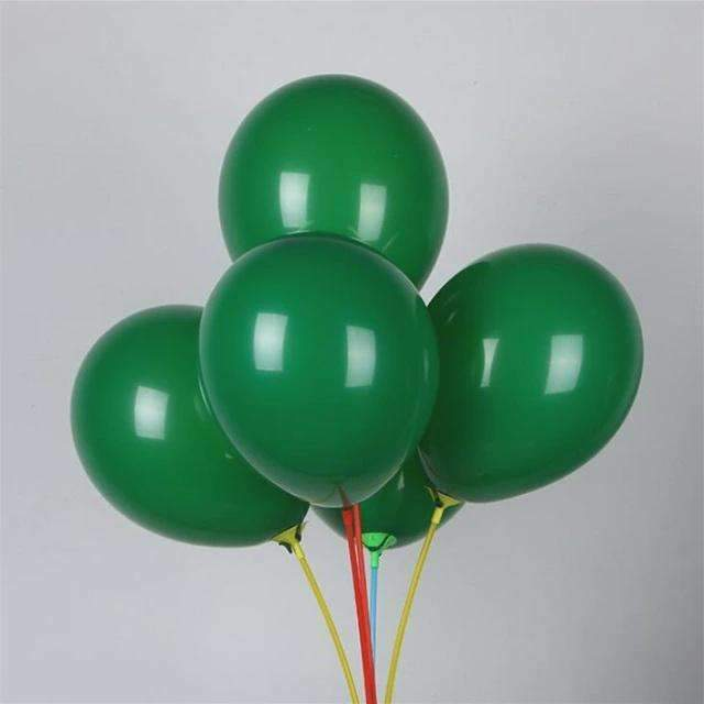PARTY BALLOONS DARK GREEN 10 PACK