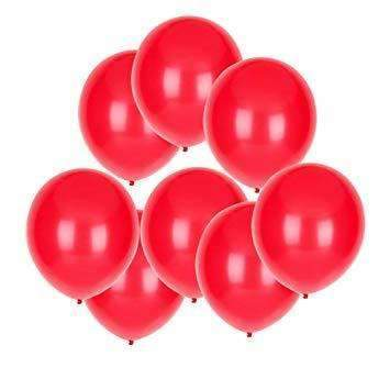 PARTY BALLOONS METALLIC  RED 10 PACK