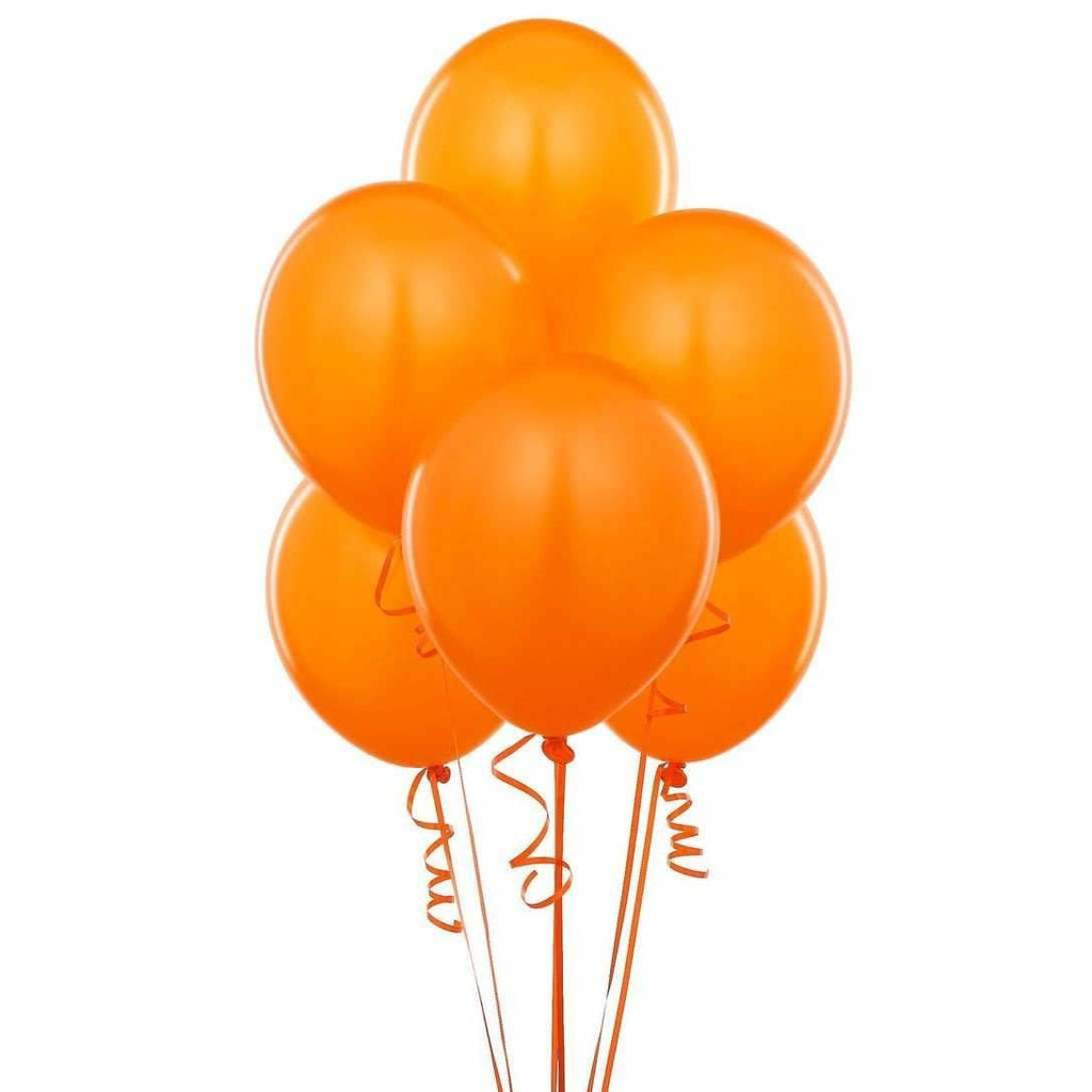PARTY BALLOONS ORANGE 10 PACK