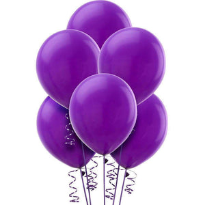 PARTY BALLOONS METALLIC PEARL VIOLET 10 PACK