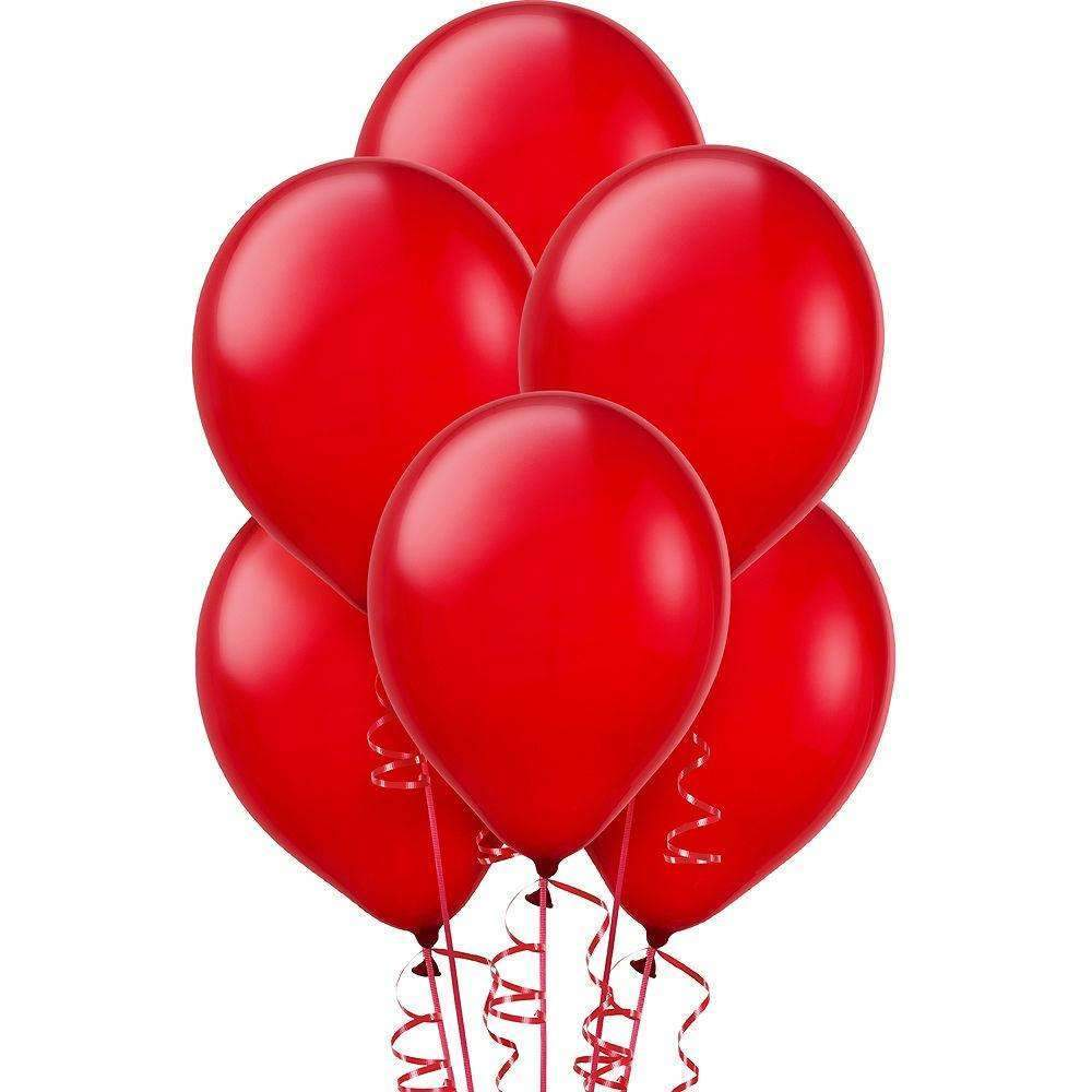 PARTY BALLOONS FASHION RED 10 PACK