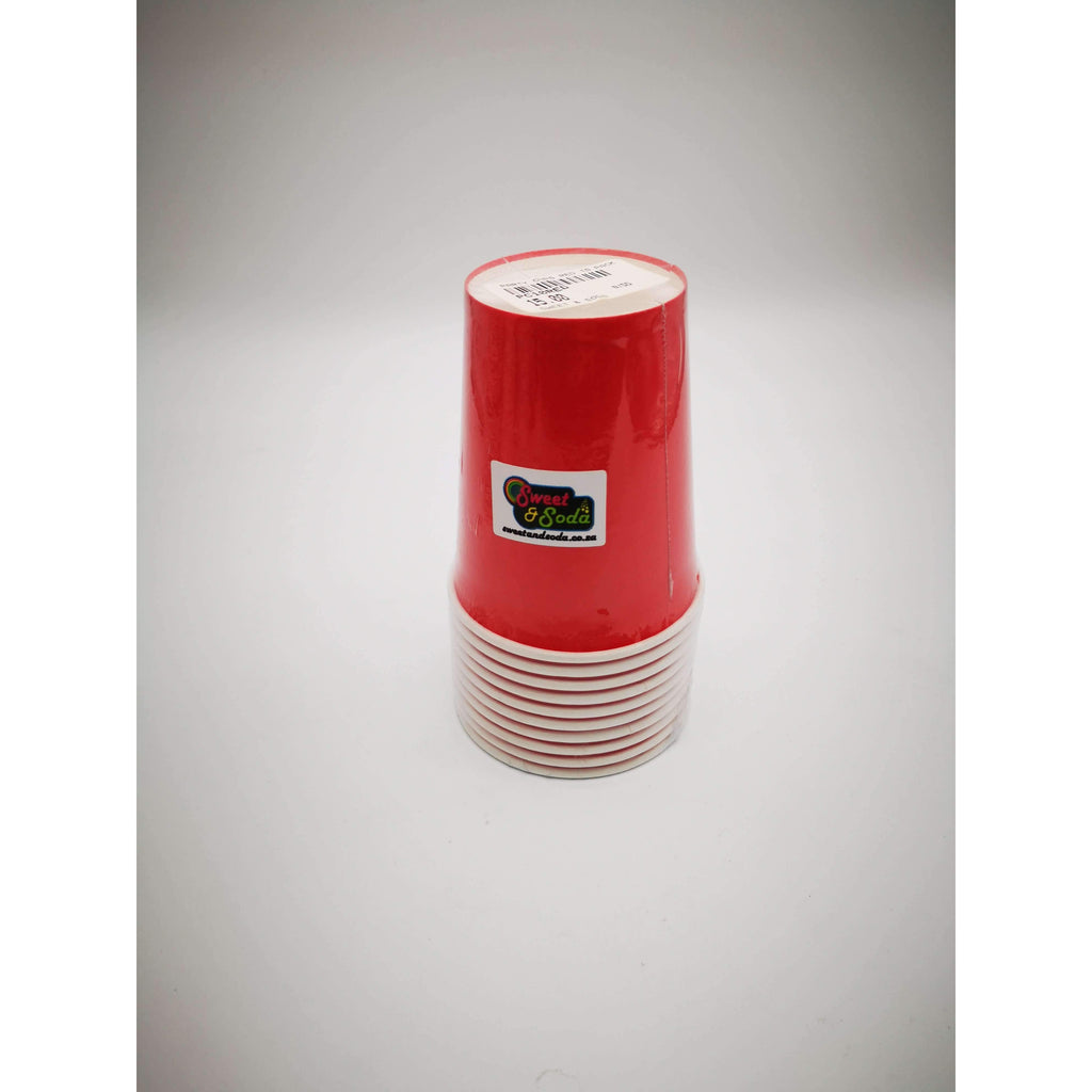 PARTY CUPS RED 10 PACK