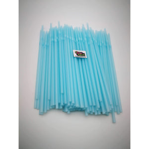 PARTY FLEXI STRAWS 100 PCS BABY BLUE