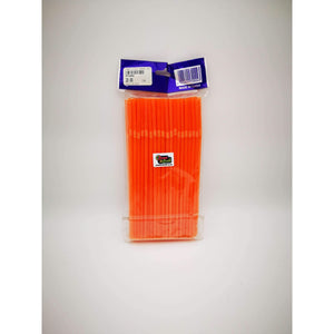 PARTY FLEXI STRAWS 100 PCS ORANGE