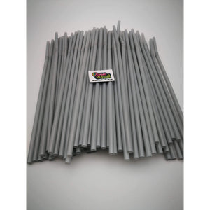 PARTY FLEXI STRAWS 100 PCS SILVER GREY