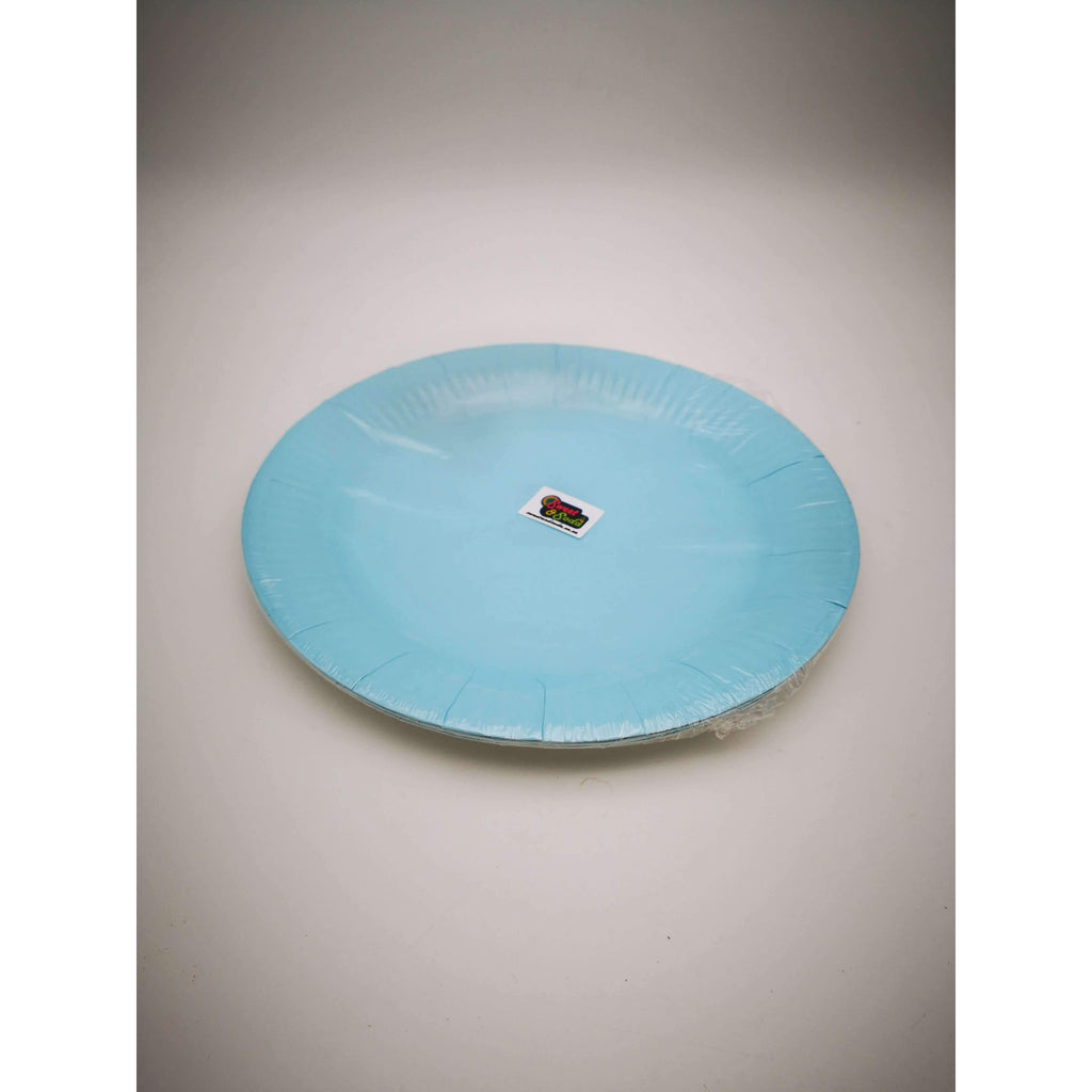 "PARTY PLATES 9"" BABY BLUE 10 PACK"