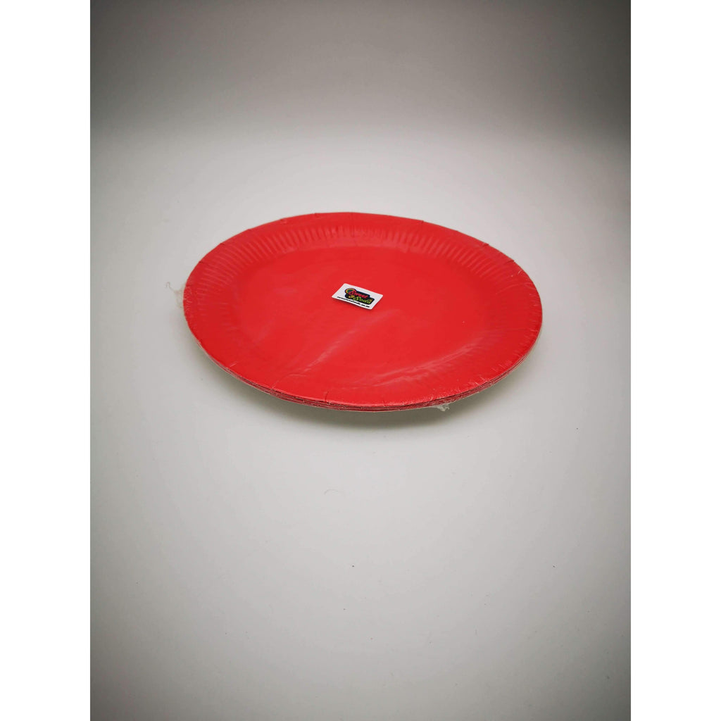 PARTY PLATES 23cm RED 8 PACK