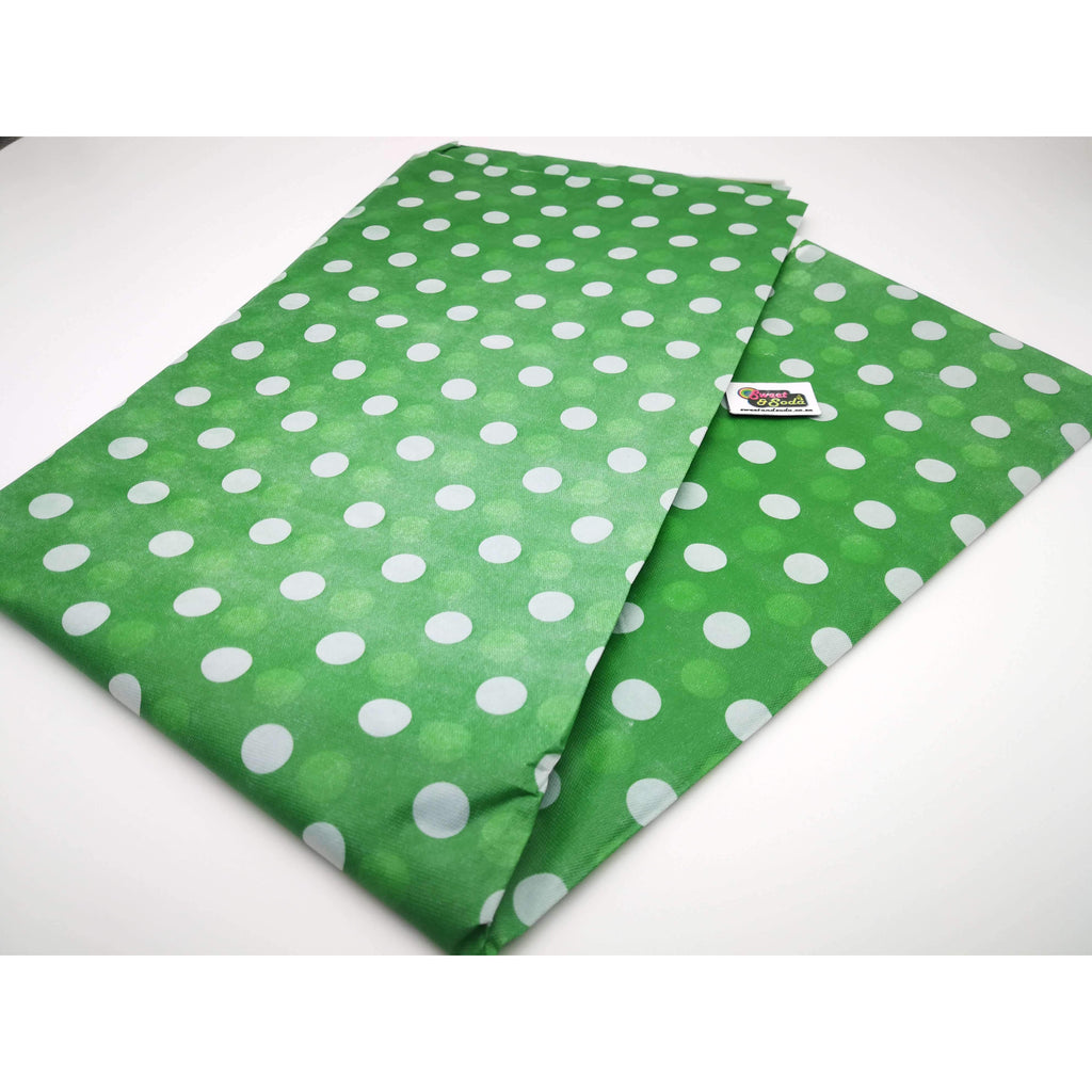 PARTY POLKA DOT TABLE COVER DARK GREEN