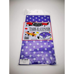 PARTY POLKA DOT TABLE COVER PURPLE