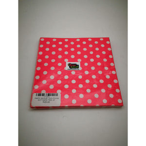 PARTY SERVIETTES POLKA DOT DARK PINK 20'