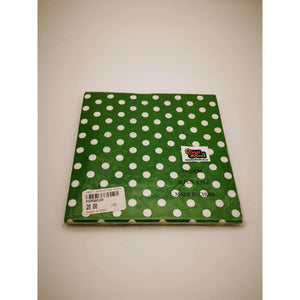 PARTY SERVIETTES POLKA DOT DK GREEN 20's