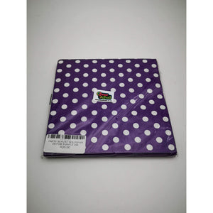 PARTY SERVIETTES POLKA DOT DK PURPLE 20s