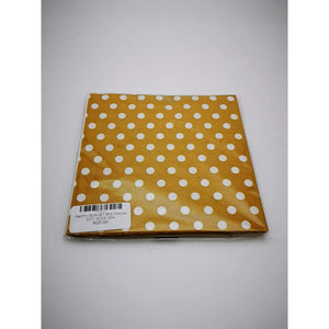 PARTY SERVIETTES POLKA DOT GOLD 20's