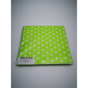 PARTY SERVIETTES POLKA DOT LIME GRN 20's
