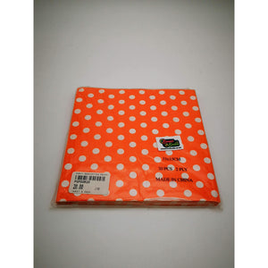 PARTY SERVIETTES POLKA DOT ORANGE 20's