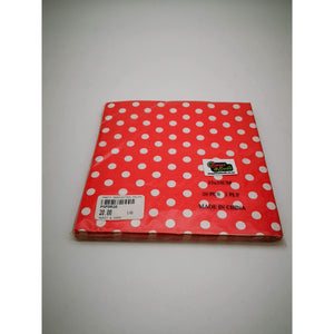 PARTY SERVIETTES POLKA DOT RED 20's