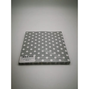 PARTY SERVIETTES POLKA DOT SILVER 20's