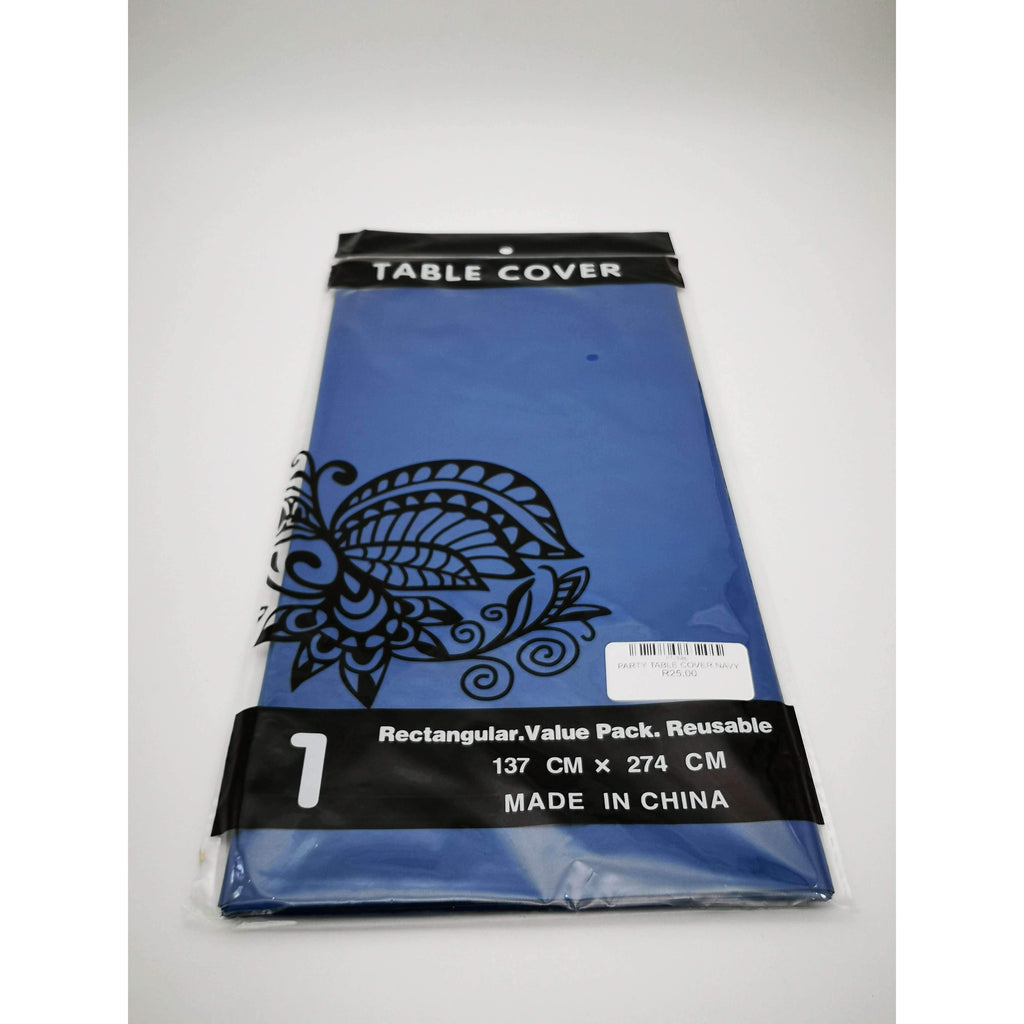 PARTY TABLE COVER NAVY