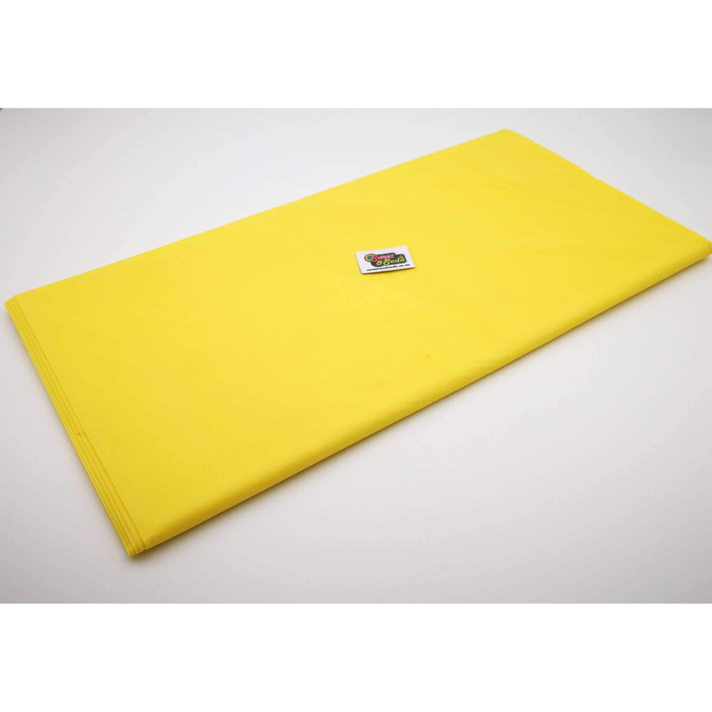 PARTY TABLE COVER YELLOW